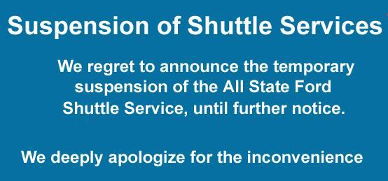 shuttle suspended
