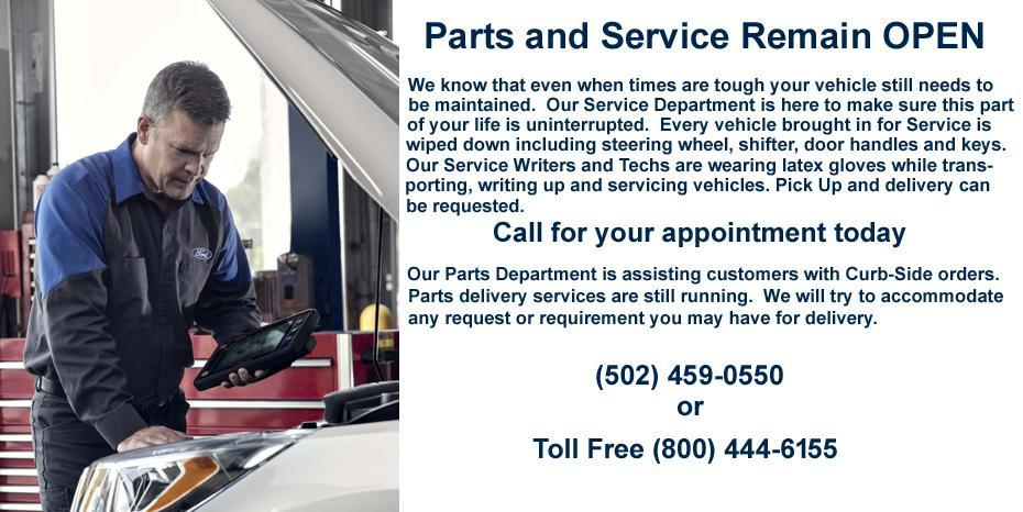 PARTS AND SERVICE MESSAGE