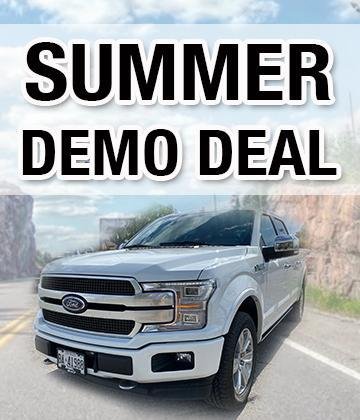 Summer Ford F-150 Demo Specials