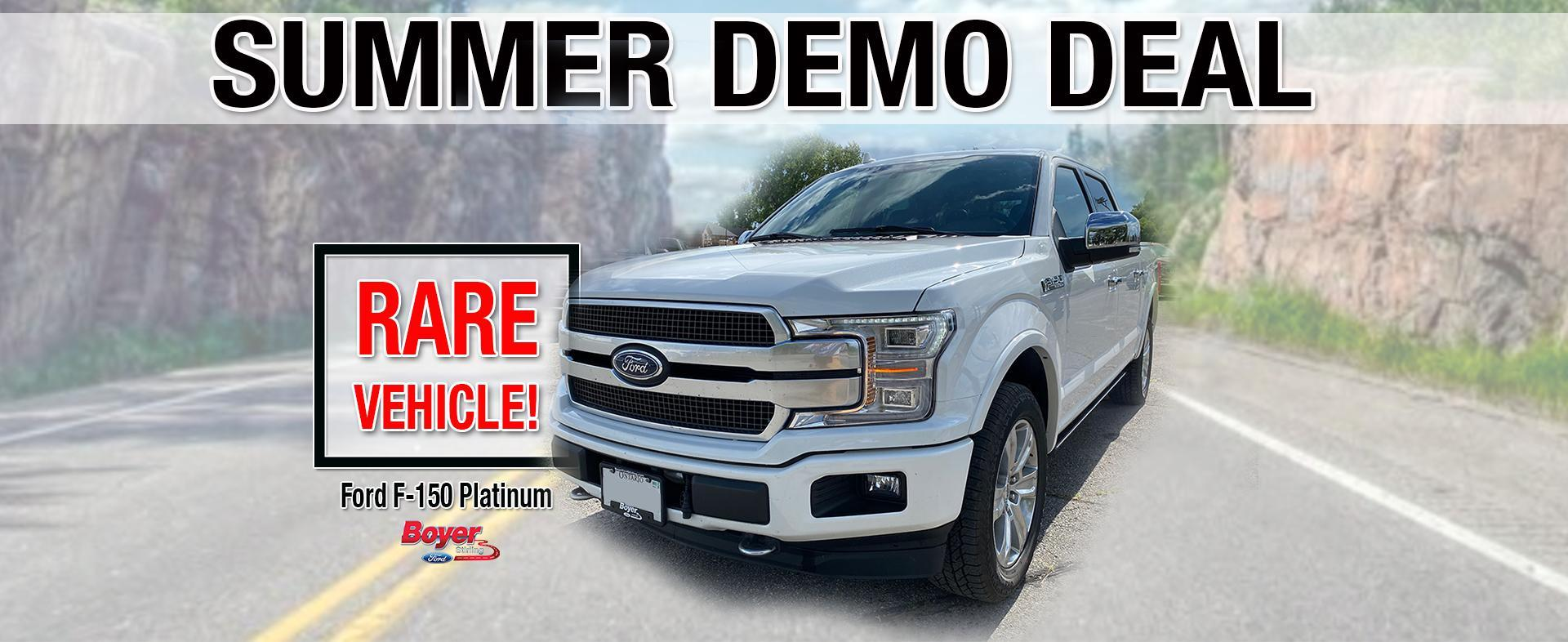 Summer Demo Deal at Boyer Ford Stirling - White Ford F150