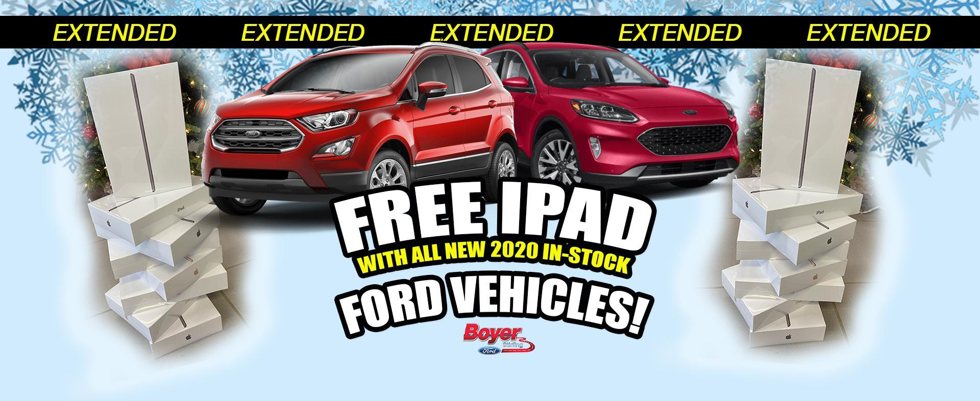 Free iPad with any Purchase at Boyer Ford Stirling