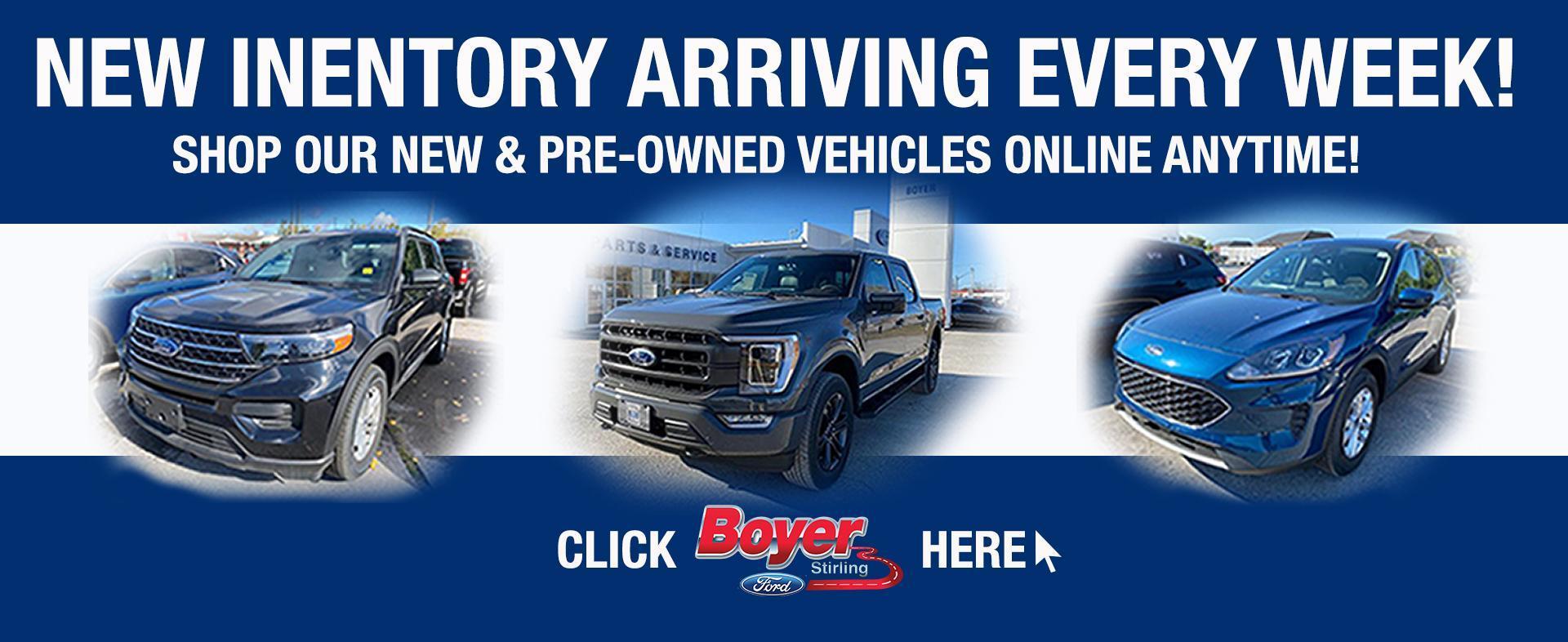 Shop Online anytime at Boyer Ford Stirling