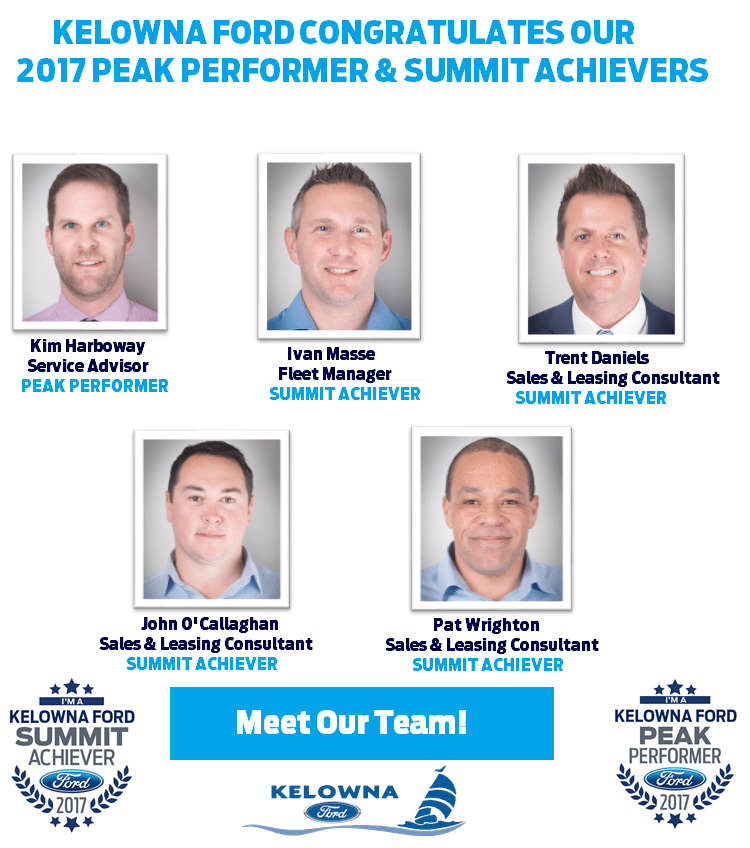 2017 Summit Achievers and Peak Performers Kelowna Ford