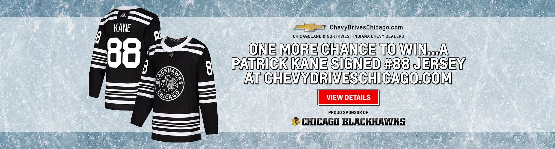 Enter to Win a Signed Patrick Kane #88 Jersey | Chevy Drives Chicago