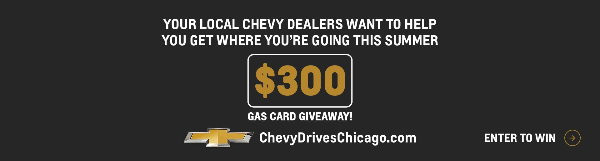 Gas Card Giveaway | Chevy Drives Chicago