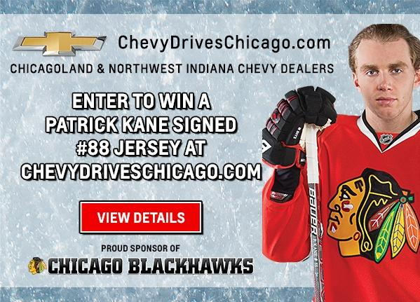 Patrick Kane #88 Jersey Giveaway | Chevy Drives Chicago