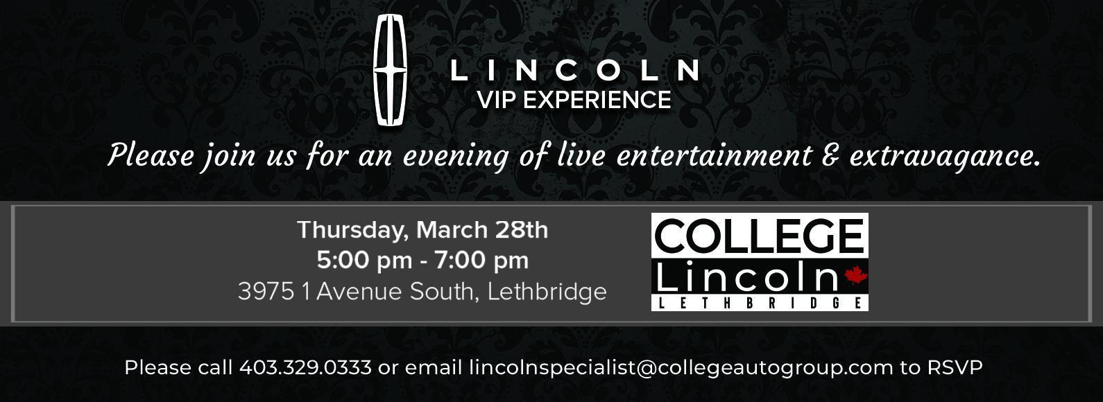 Lincoln VIP Event