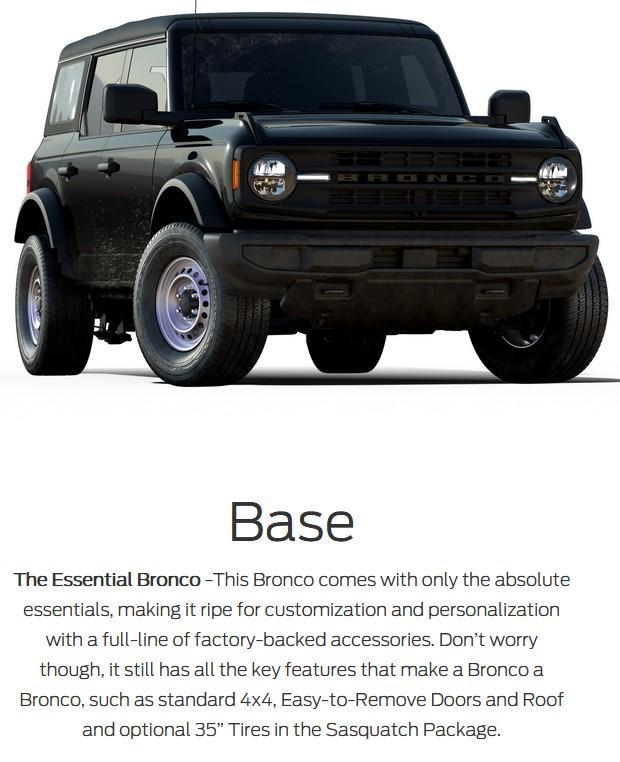 2021 ford bronco 4-door base model in lacombe alberta