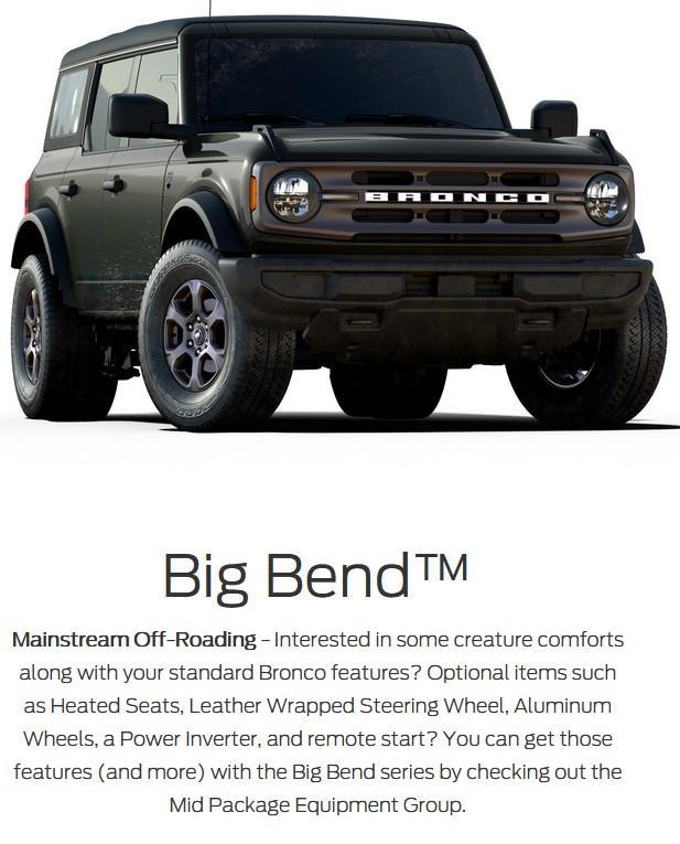 2021 ford bronco 4 door big bend series lacombe alberta