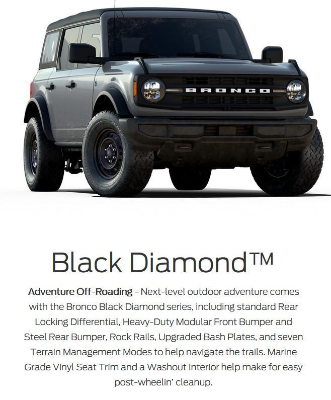 2021 ford bronco 4 door black diamond series in lacombe alberta