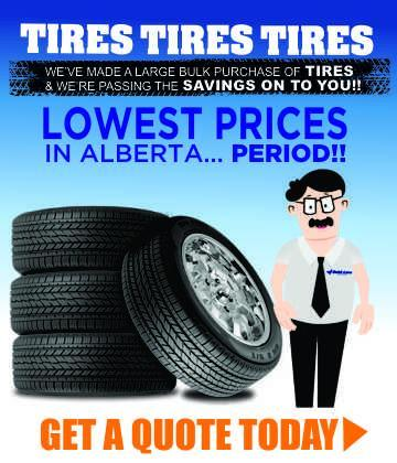 winter and all-season tires on sale at quick lane lacombe alberta