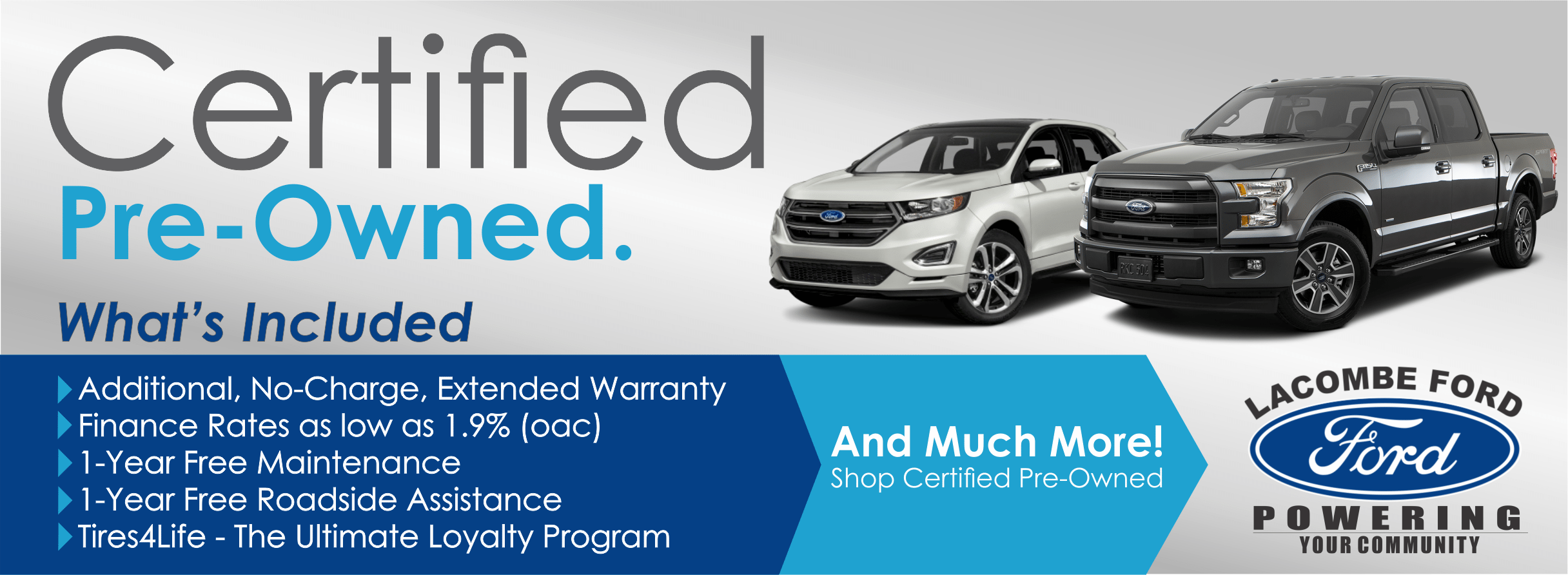 Ford certified preowned used vehicles for sale in lacombe alberta