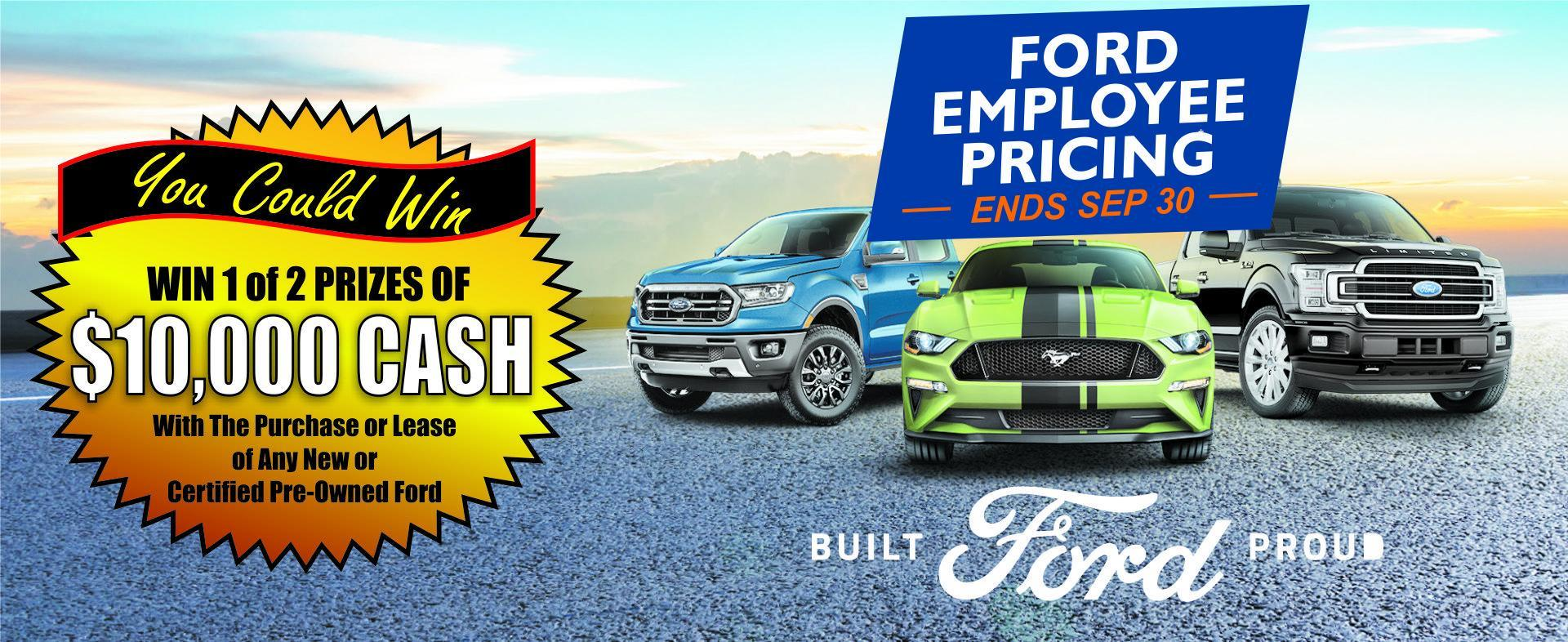 FORD EMPLOYEE PRICING EVENT LACOMBE FORD ALBERTA