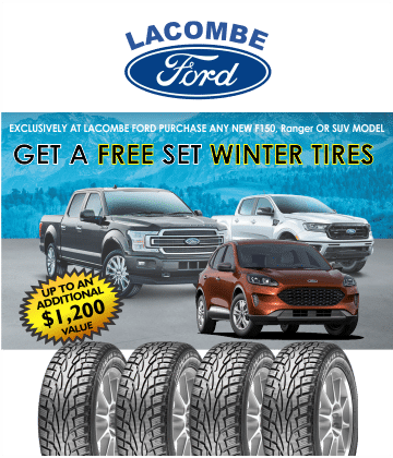 new ford trucks suvs at lacombe ford tires4life free winter tires