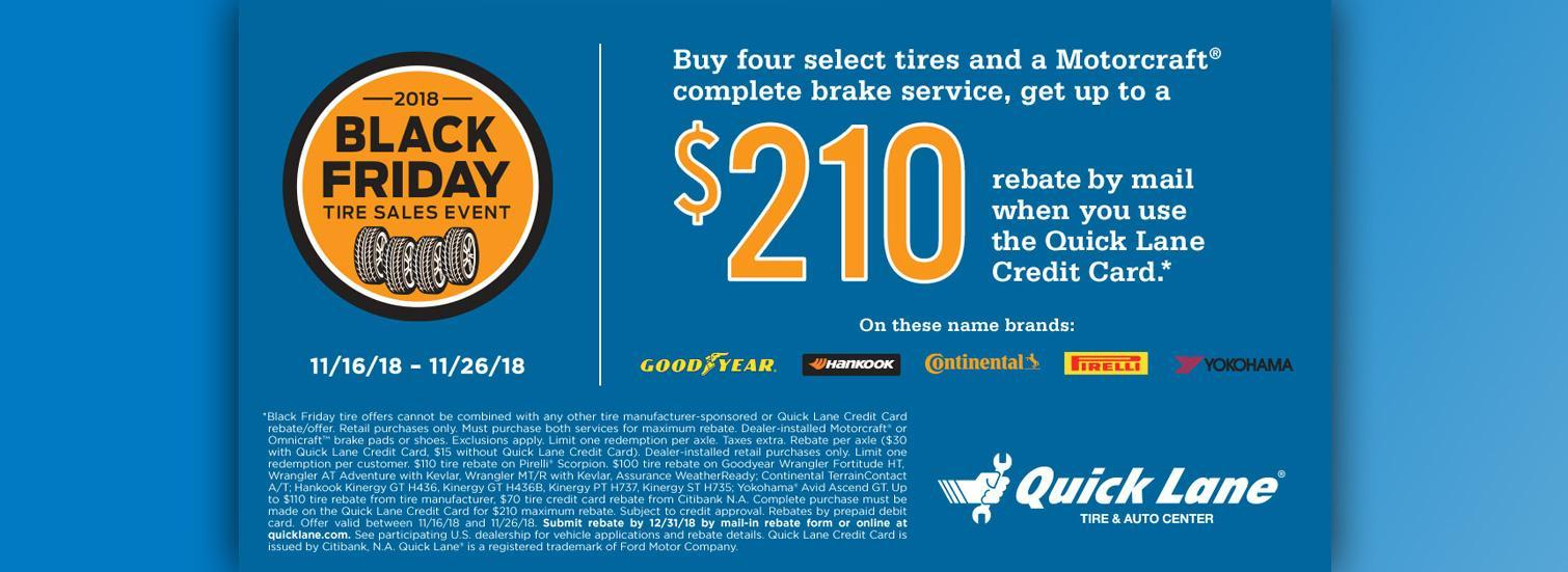 Black Friday Tires Offer $210 off
