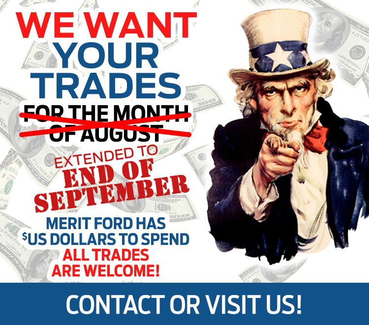 We want your trade