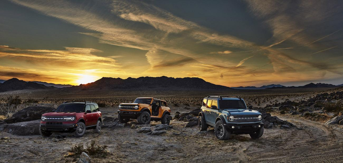 2021 Ford Bronco Family in desert