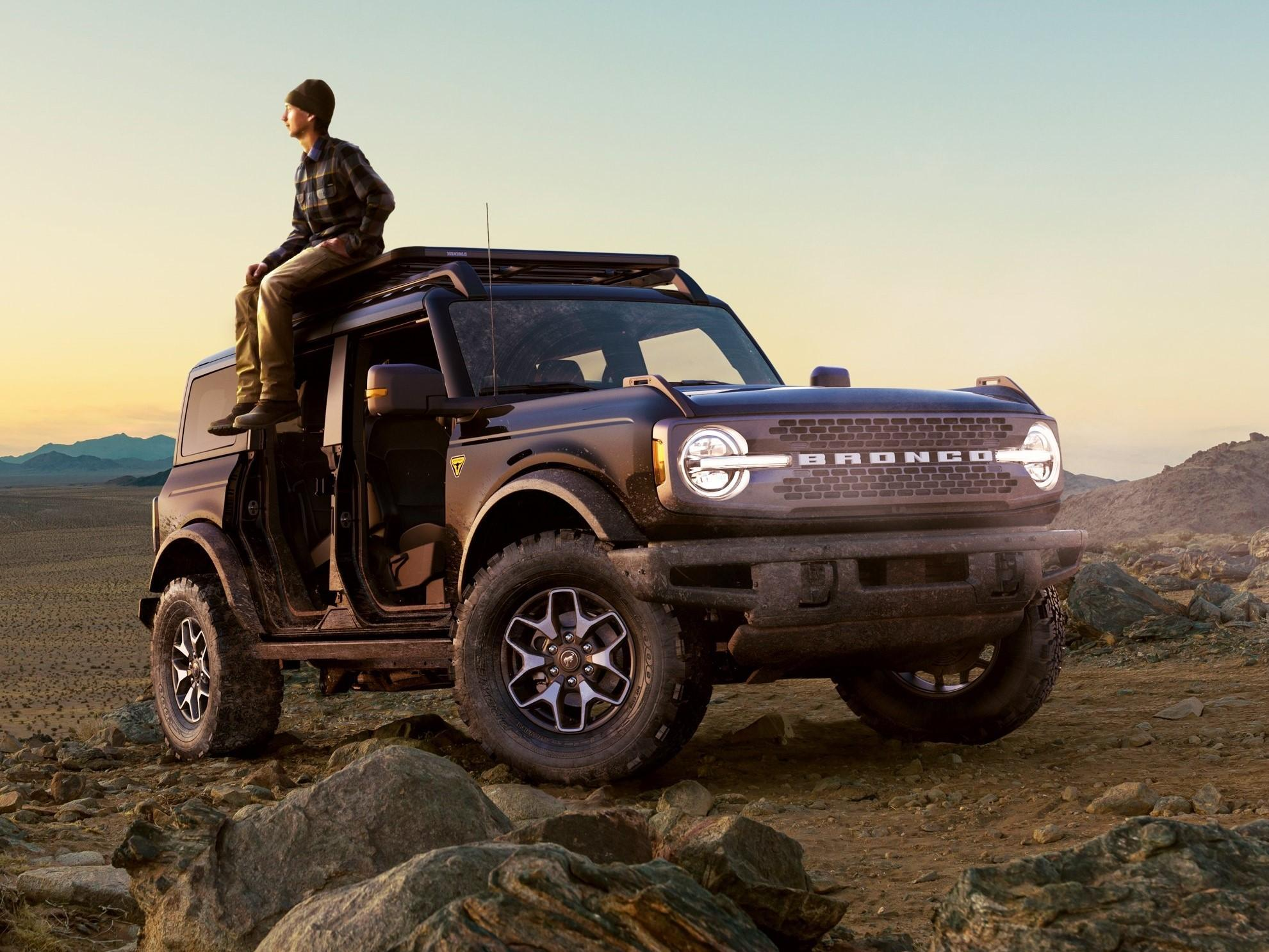 2021 Ford Bronco in the Badlands