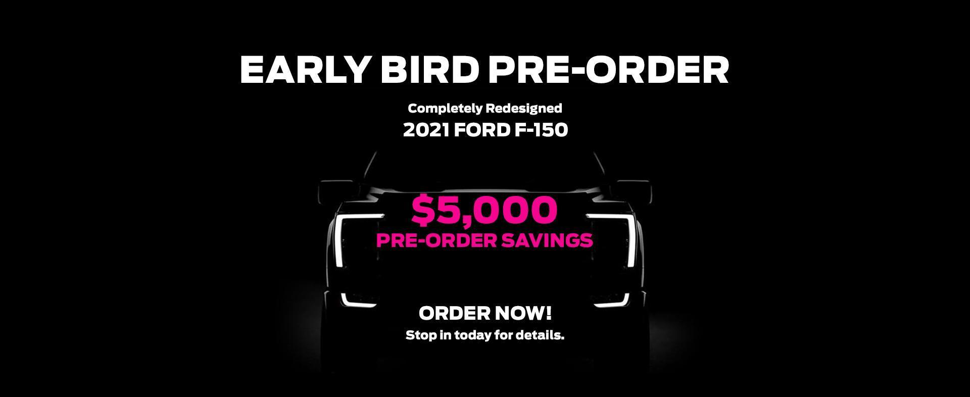 EARLY BIRD PRE-ORDER