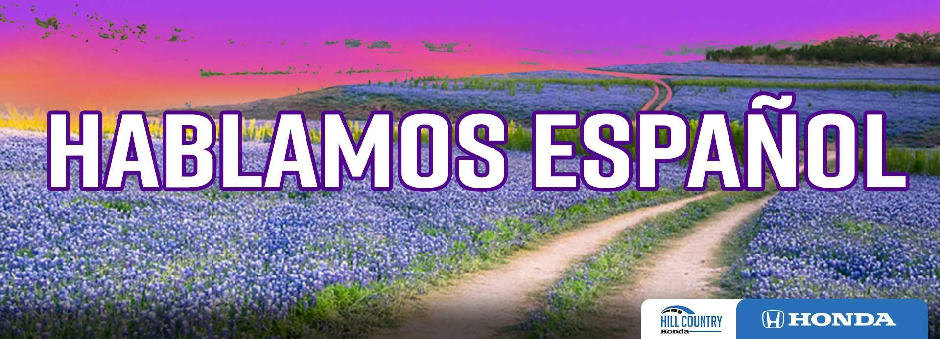 We speak Spanish banner