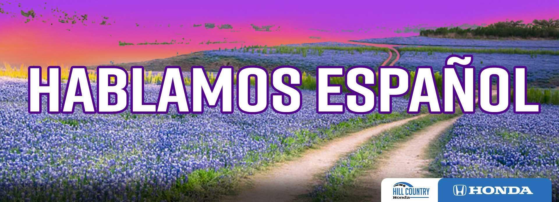 We speak Spanish banner