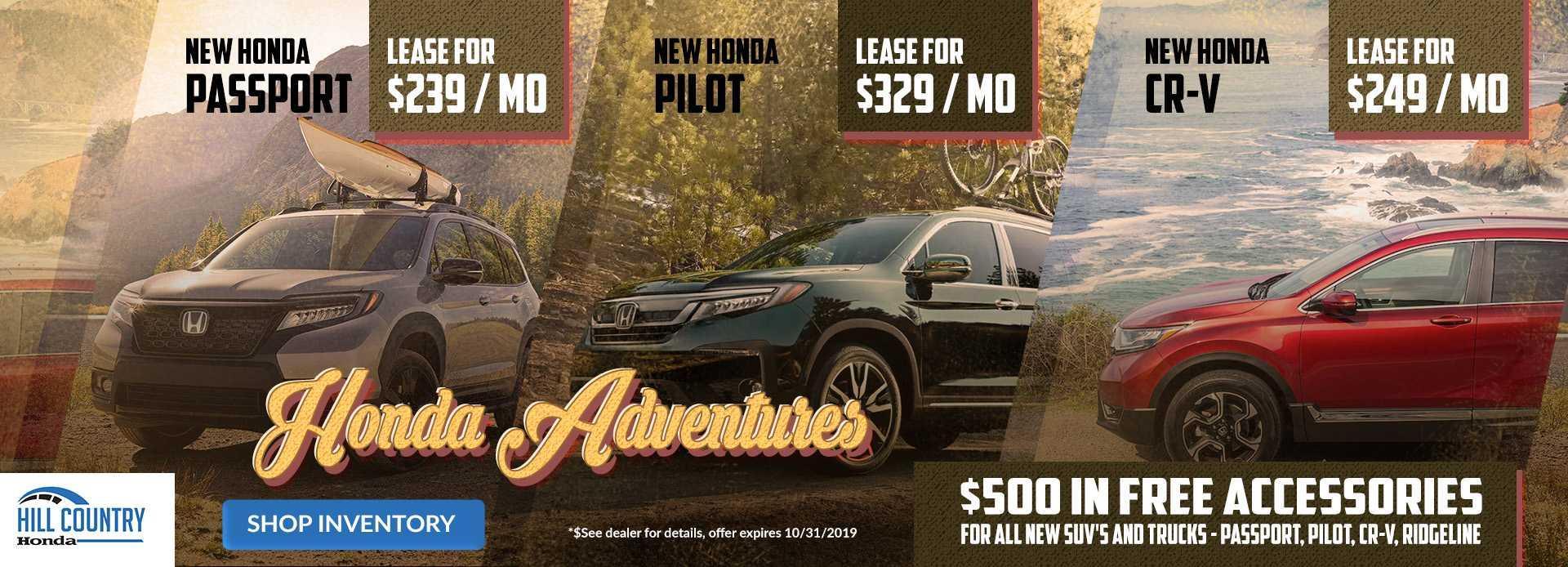 2019 Honda SUV Special Offers