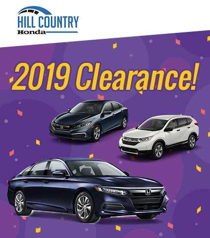 Honda Clearance Nov 2019