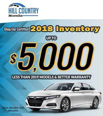 2018 Certified Inventory