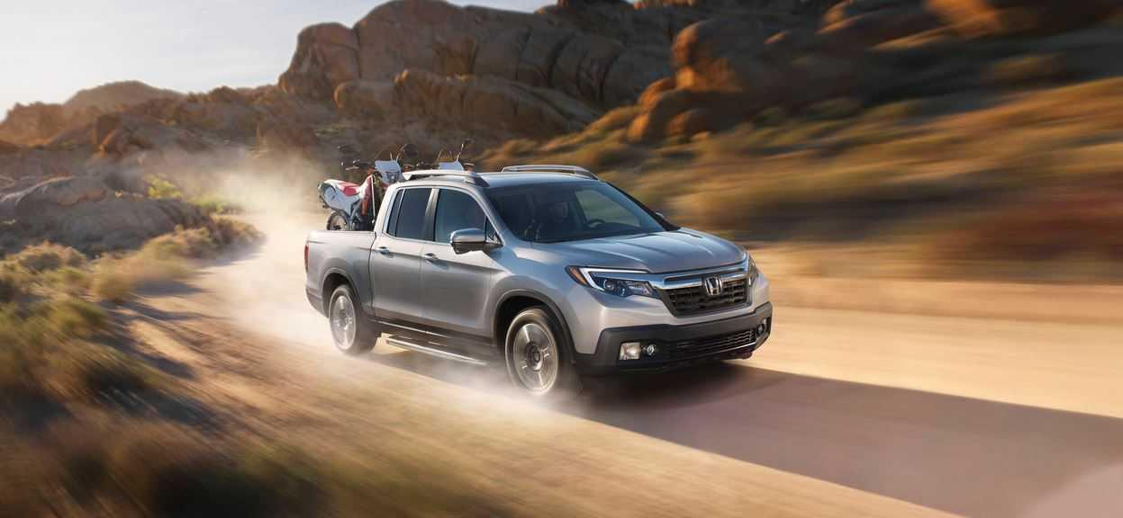 Honda Ridgeline driving through the desert