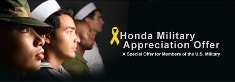 Honda Military Appreciation Offer at JL Freed Honda