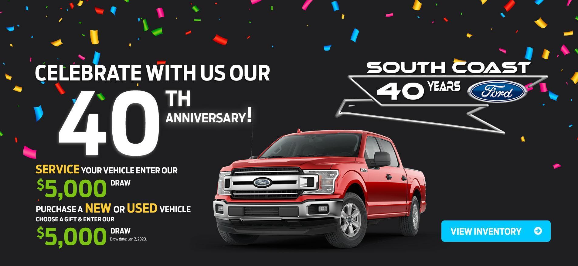 40th anniversary offer