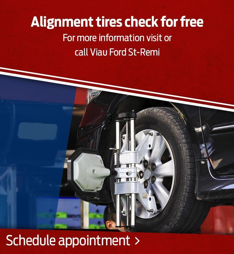 Alignment tires service offer Viau Ford