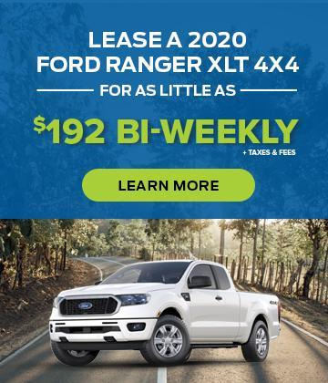 Lease a 2020 Ford Ranger XLT 4x4 for $192 bi-weekly*