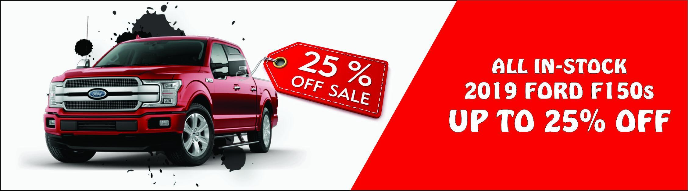 25% Off All 2019 Instock F150s