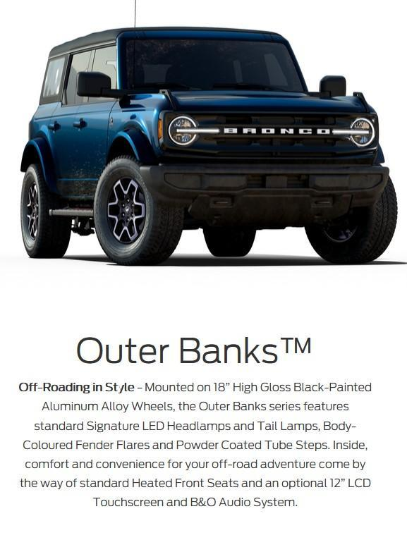 2021 ford bronco outer banks drayton valley ford alberta