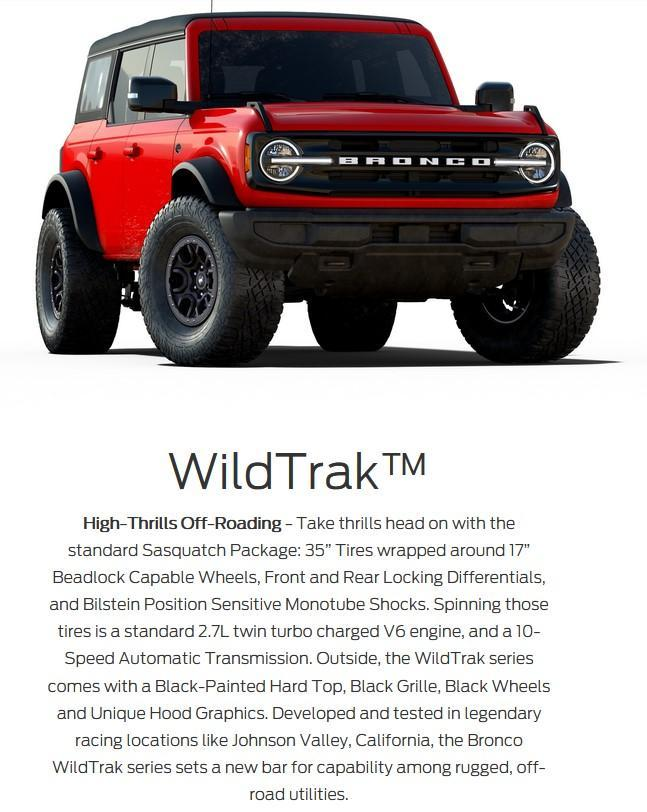 2021 ford bronco wildtrak series drayton valley ford alberta