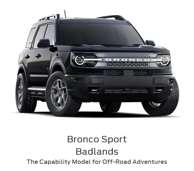 2021 bronco sport bad lands series at drayton valley ford alberta