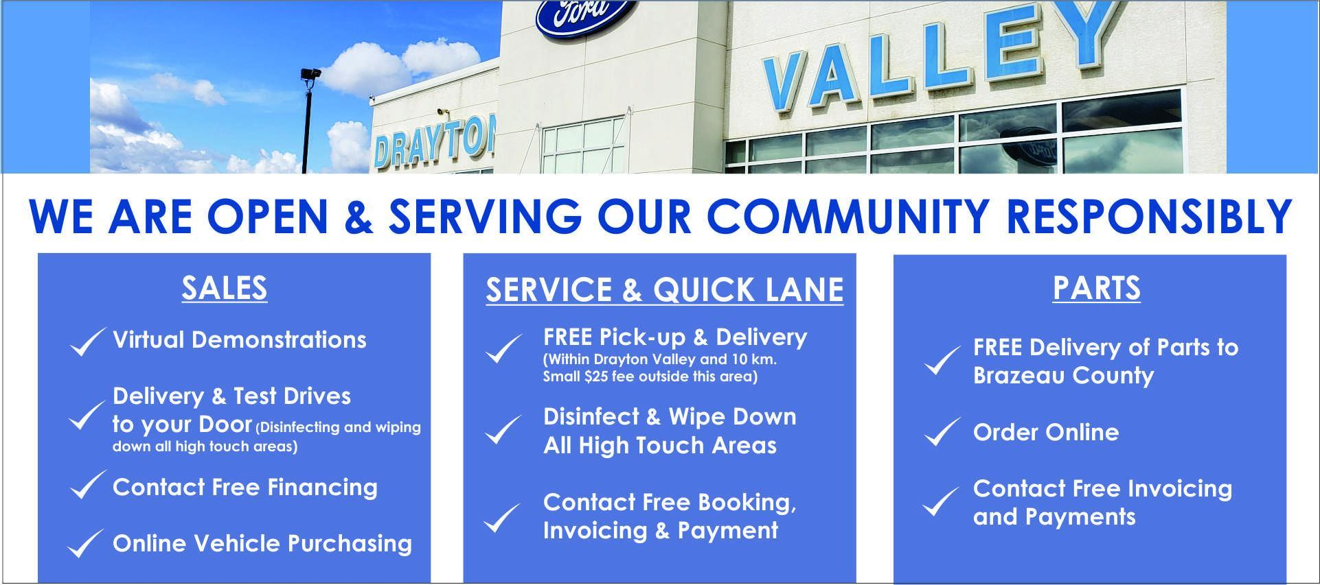 covid-19 services at drayton valley ford