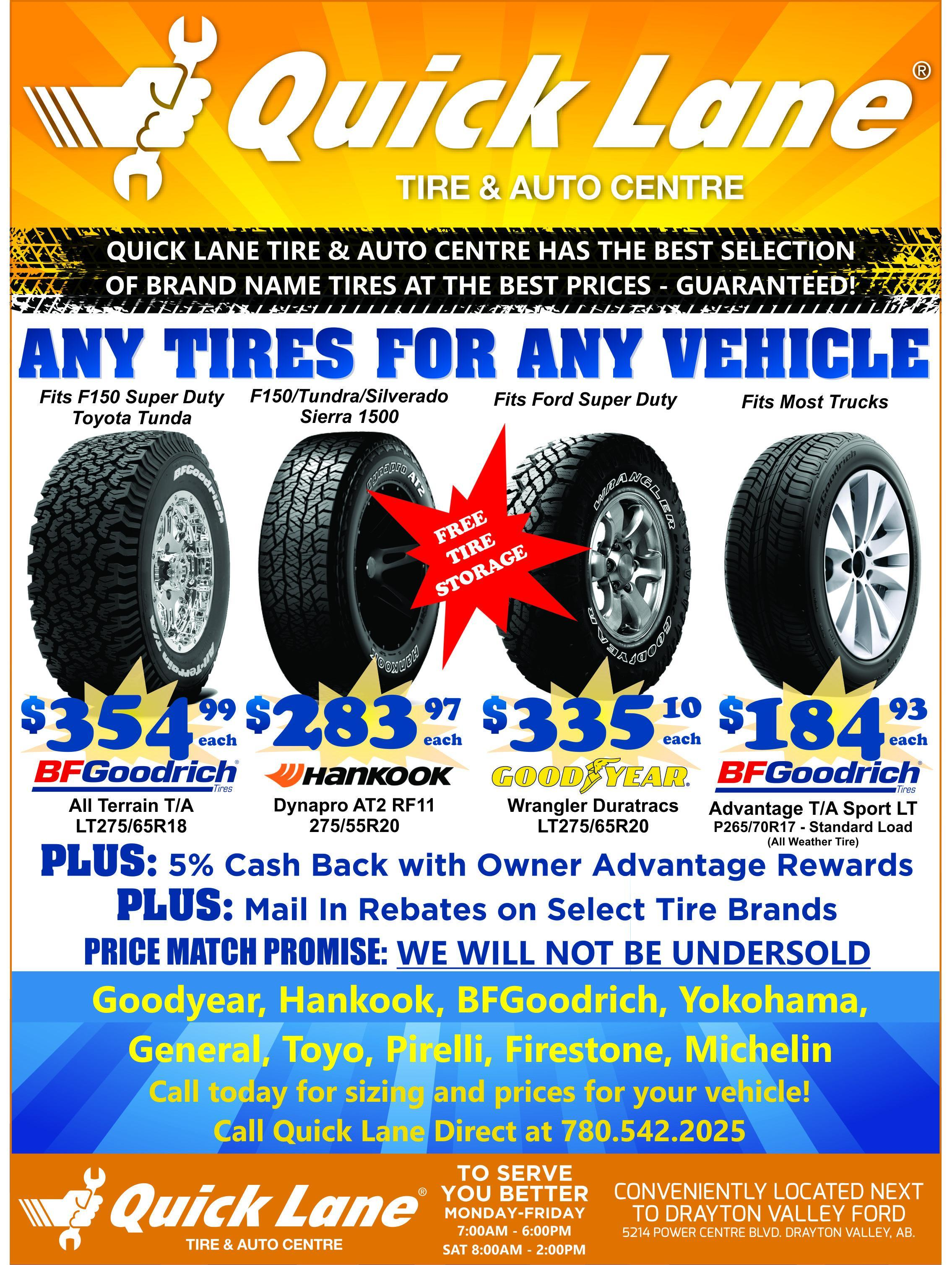 ford dealership tire deals