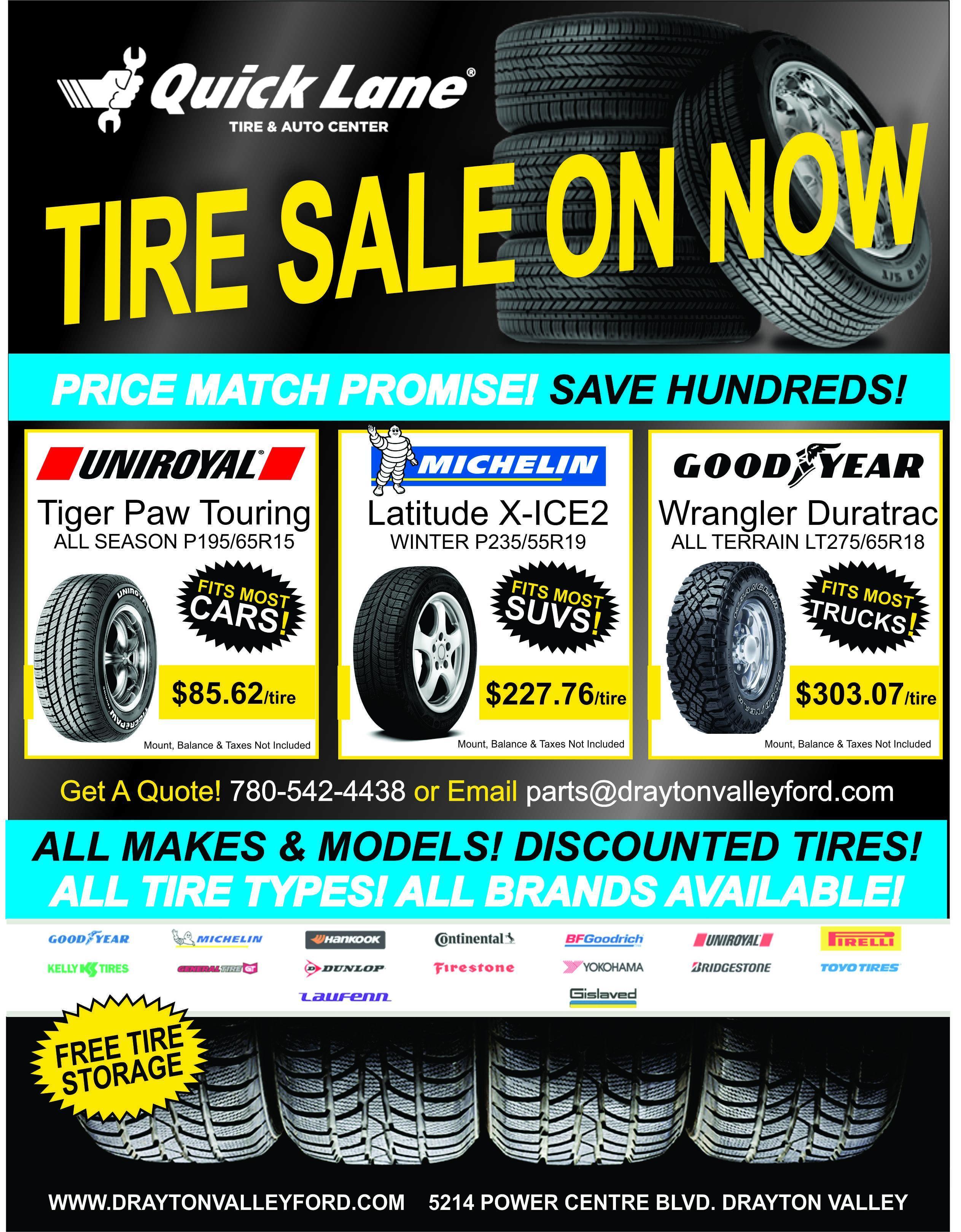 Massive Truckload Tire Sale!