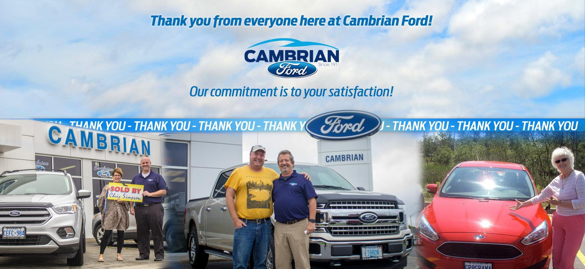 Cambrian Ford Thank you