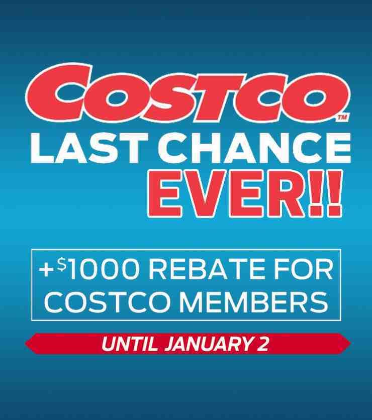 Last Chance Ever! Costco Members Save $1,000