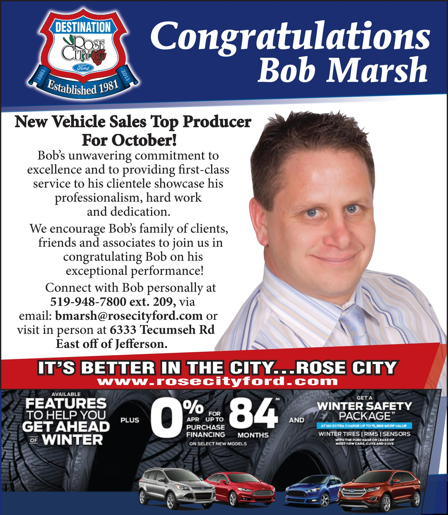 Ford Congratulations Bob Marsh image