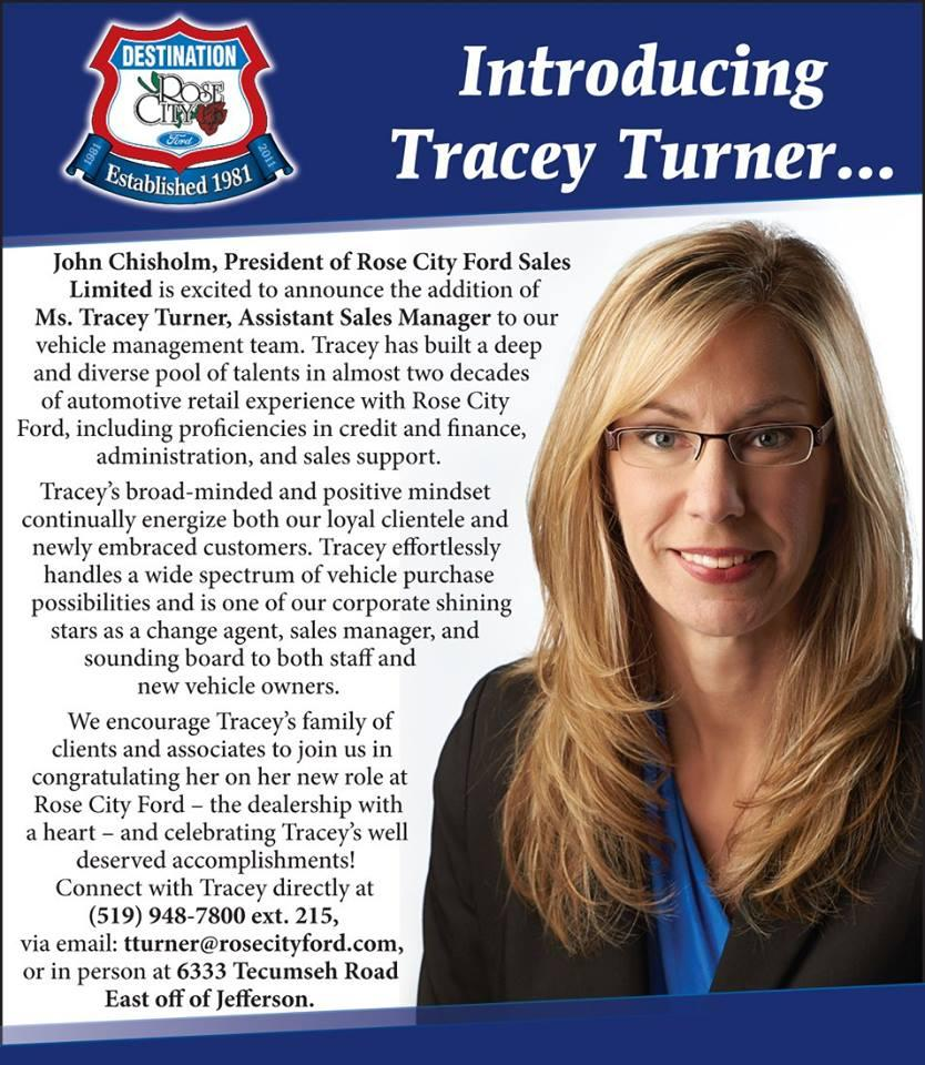 Ford Congratulations to our own Tracey Turner image