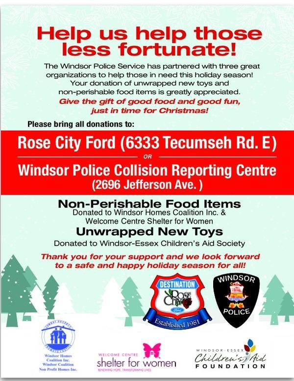 Ford Windsor Police Service Annual Food and Toy Drive image