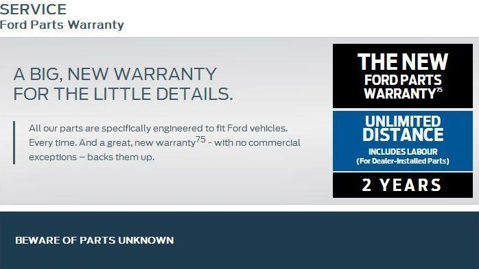 Service Ford Parts Warranty