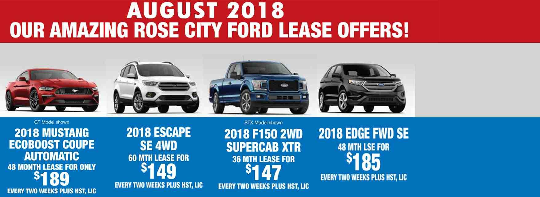 2018 Ford Mustang, 2018 Ford F-150, 2018 Ford Edge, 2018 Ford Escape