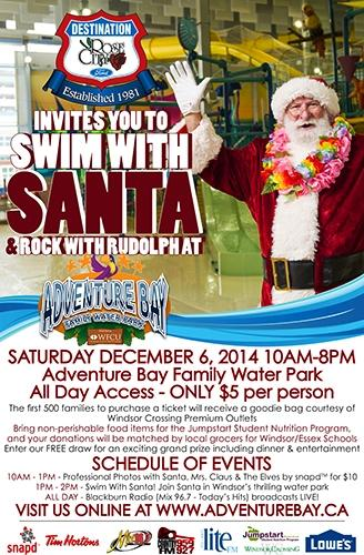Ford Kick Off The Holiday Season with Santa at Adventure Bay Family Water Park image