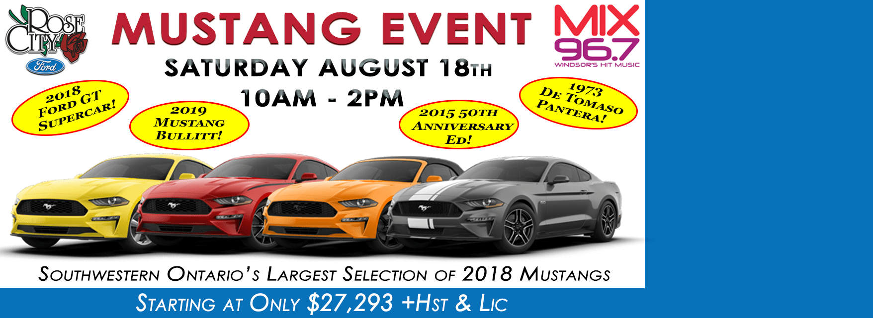 August 2018 Mustang Event