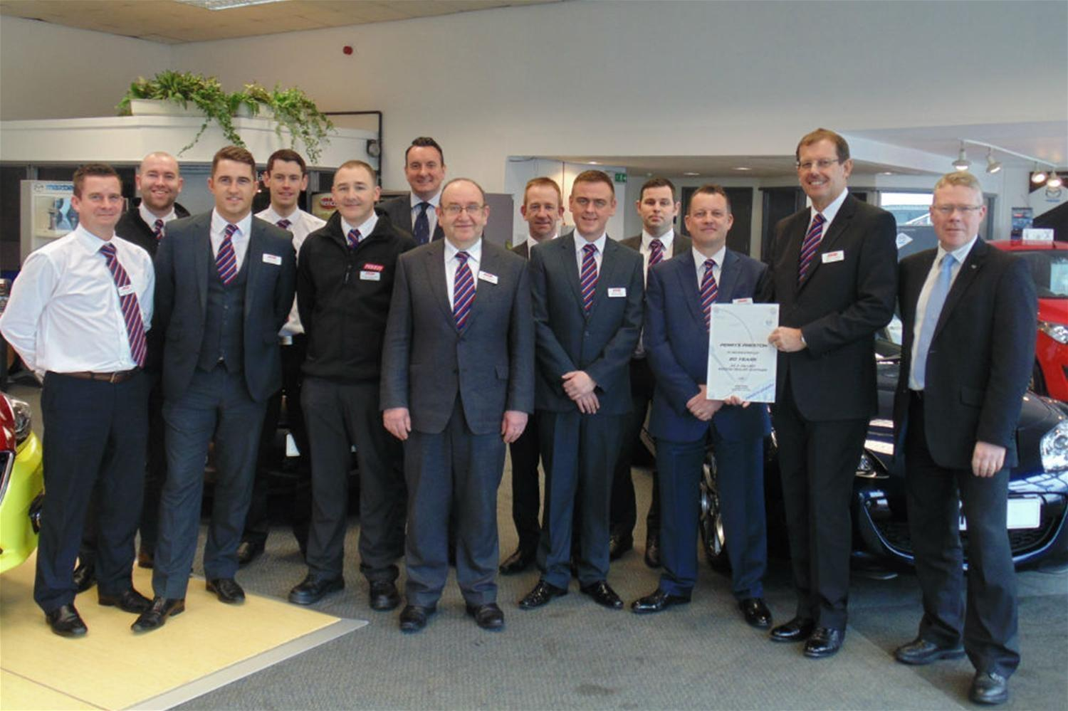 Perrys Mazda Preston celebrates 20th anniversary
